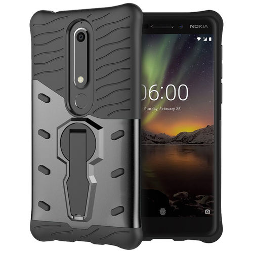Slim Shield Tough Shockproof Case for Nokia 6 (2018) - Grey